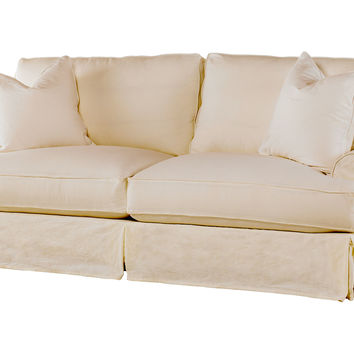 Shabby Chic, Comfy Queen Sleeper Sofa, Natural, Sleepers