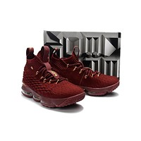 Nike LeBron James 15 XV Wine Red Basketball Shoe US 7-12