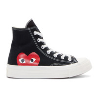 Black Heart Logo Converse Edition High-Top Sneakers