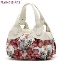 FLYING BIRDS Leather Pattern Shoulder Handbag Purse