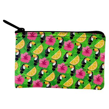 Tropical Vacation Tucan Pattern Coin Purse