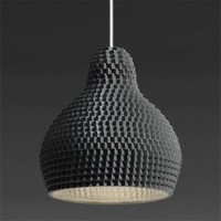 Lampe 72dpi Black Unglazed | Industreal
