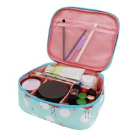 Flamingo Cosmetic Bags Women's Makeup Wash Toiletry Pouch Girls Luggage Travel Suitcases Organizer Accessories Supplies Cases