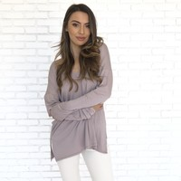 Dusk to Dawn Tunic Top In Mauve