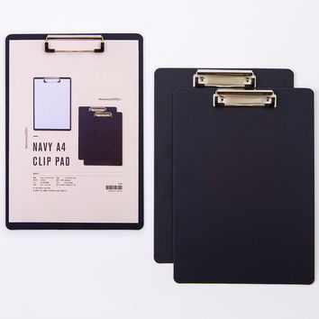 Navy A4 size clipboard with low profile clip