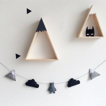 Nordic Felt Cloud Garland Party Banner Kids Room Nursery Hanging Wall Decor Christmas Best Gifts Baby Shower Bunting Ornament