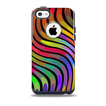 The Swirly Color Change Lines Skin for the iPhone 5c OtterBox Commuter Case