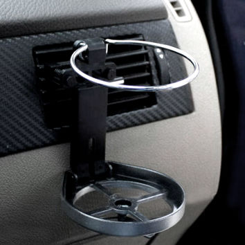 New Universal Folding Air Conditioning Inlet Auto Car Drink Holder Car Beverage Bottle Cup Car Frame for Truck Van Drink