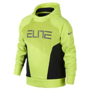 Nike Elite Pullover Boys' Basketball Hoodie Size Small (Yellow)