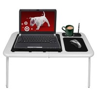 TG Portable Laptop Table with Cooling Fans - White (75-LD09)