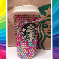 Multi color Starbucks reusable cup