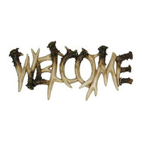 REP Deer Antler Theme Welcome  Plaque 1382