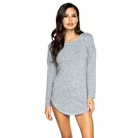 Sexy Get Down Gray Loungewear Long Sleeved Top