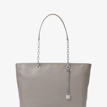 Mercer Medium Chain-Link Leather Tote | Michael Kors
