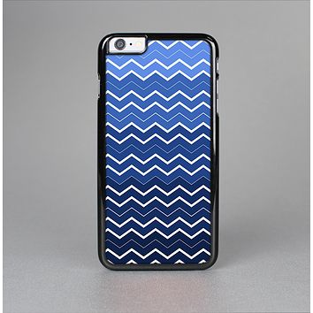 The Blue Gradient Layered Chevron Skin-Sert for the Apple iPhone 6 Plus Skin-Sert Case