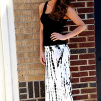 Black + White Abstract Maxi {Skirt}