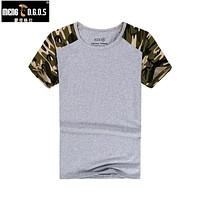 Man Casual  T-shirt Men Cotton Army Tactical Combat T Shirt Military T Shirts Tops