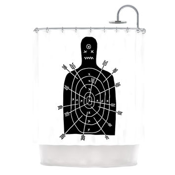 "BarmalisiRTB ""Arch Arrow"" Target Shower Curtain"