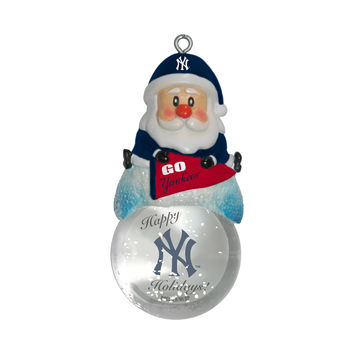 New York Yankees Ornament - Santa Snow Globe