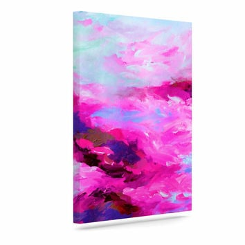 "Ebi Emporium ""Taken By The Undertow 4"" Pink Magenta Canvas Art"