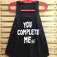 you complete mess me shirt luke hemmings shirt 5sos shirt 5sos Tank top 5 sos tshirt - size S M