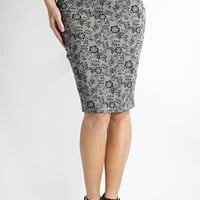 3rd Street Skirt- Grey Lace