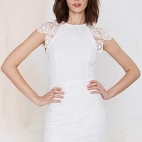 Nasty Gal Levina Lace Dress - White