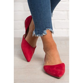 Red Not Replied Slip On Flats (Red)