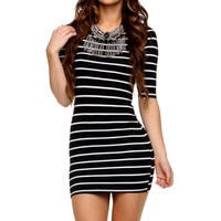 Sale-black Stripe Tunic
