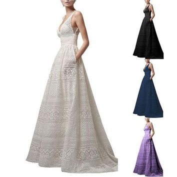 Boho Maxi Long Dress Evening Dress Smooth Fashion Solid Color S-5XL Wedding Party 4color