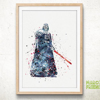 Darth Vader, Star Wars - Watercolor, Art Print, Home Wall decor, Watercolor Print, Star Wars Poster