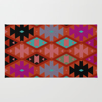 bohemian Area & Throw Rug by spinL