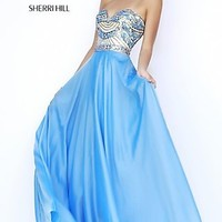 Sherri Hill Strapless Floor Length Dress