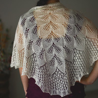 Knit shawl wedding shawl, bridal lace in vanilla white, gift for her (25 colors available)