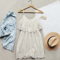 White Lilac Lace Dress