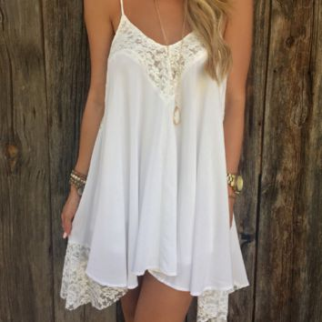Lace Patchwork Strap Dress