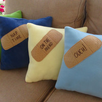 Get Well Pillow, Cozy Soft Fleece, Specialty, Novelty, Gift, Ouch, Nap, Rest,  Expedited Shipping Available
