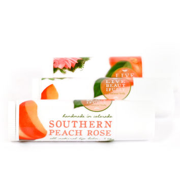Southern Peach Rose - All Natural Lip Balm Tube