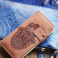 Understated Leather x Free People Womens Icon Leather Iphone Case