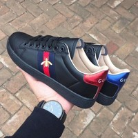 Gucci Shoes Bee Trending Fashion Casual Sports Shoes Black