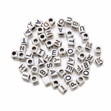 Cubed Alphabet Beads