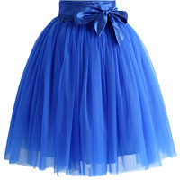 Amore Tulle Skirt in Sapphire Blue Blue
