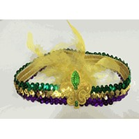Mardi Gras Feathered Flapper Headband