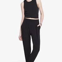 Boxy Cropped Top + Pleated Jersey Jogger Pant from EXPRESS