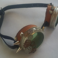 steam punk goggles with spikes