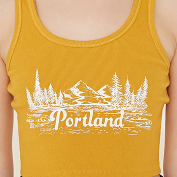 Portland Graphic Crop Top