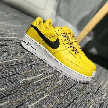 Nike Air Force 1 Low NBA Pack Unisex Sport Casual Letter Shoelace Plate Shoes Couple Fashion Sneakers-3