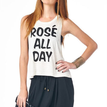 Rose All Day Graphic Top
