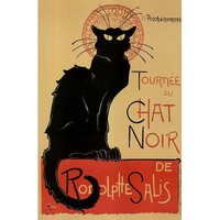 Le Chat Noir Poster Black Cat Steinlen