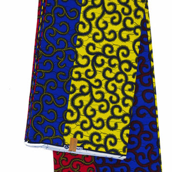 Ankara fabric African Fabric by the yard, Ethnic fabric, Wax print fabric, African print fabric, Ankara fabric, African dress, multicolor